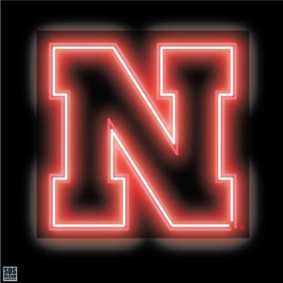 Nebraska 6 inch Neon N Logo Decal