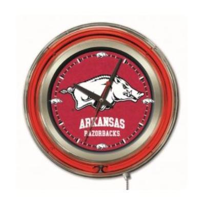 Arkansas 15 inch Neon Wall Clock