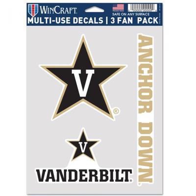 Vanderbilt 3-Pack Decal