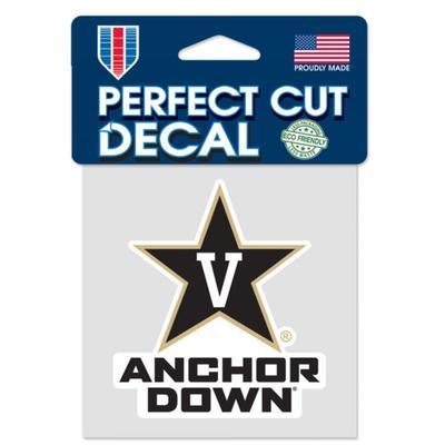 Vanderbilt Anchor Down Decal