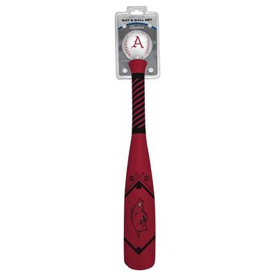 Arkansas Soft Touch Baseball and Bat Set
