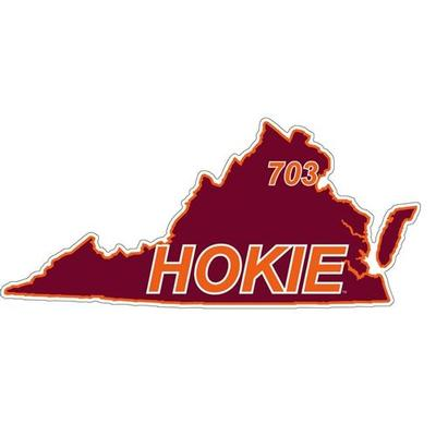 Virginia Tech Decal 703 Area Code 6
