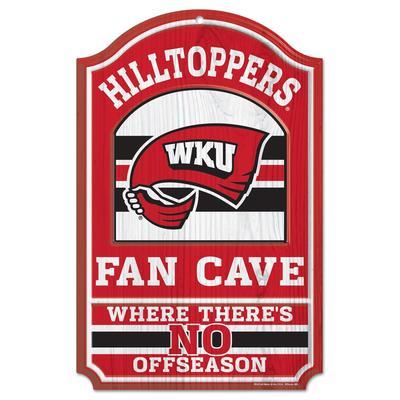 Western Kentucky Fan Cave Wooden Sign 11