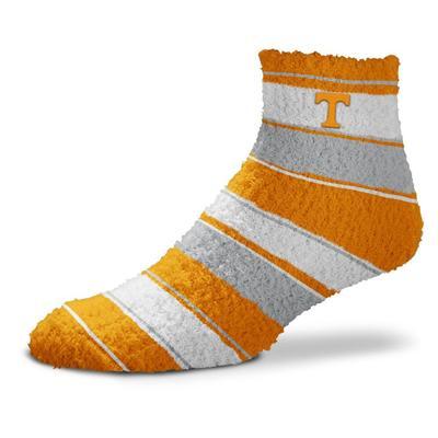 Tennessee Skip Stripe Fuzzy Sock