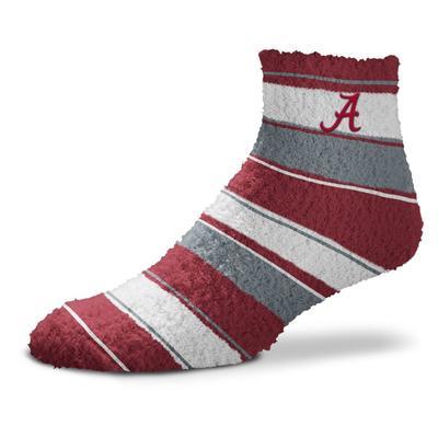 Alabama Skip Stripe Fuzzy Sock
