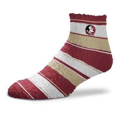 Florida State Skip Stripe Fuzzy Sock