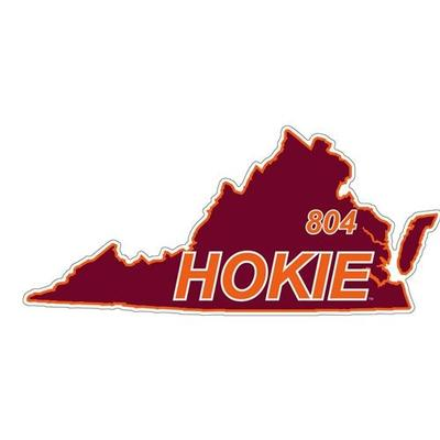 Virginia Tech Decal 804 Area Code 6