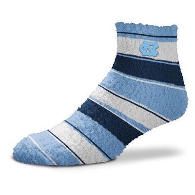 UNC Skip Stripe Fuzzy Sock