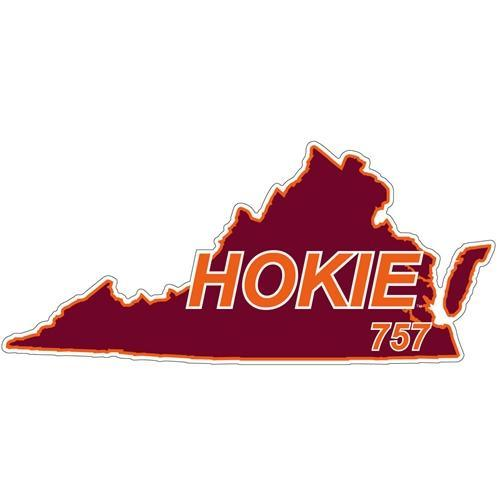 Virginia Tech Decal 757 Area Code 6