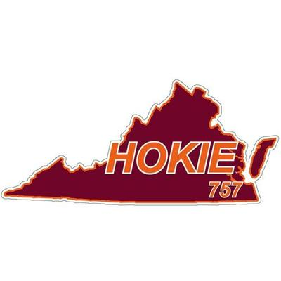 Virginia Tech Decal 757 Area Code 6