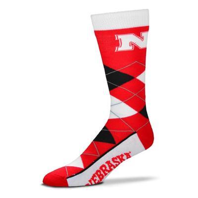 Nebraska Argyle Sock