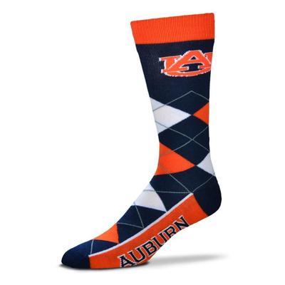 Auburn Argyle Sock