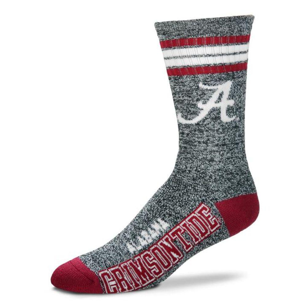 Alabama 4- Stripe Marbled Deuce Sock