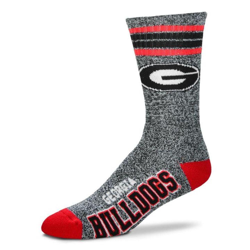 Georgia 4- Stripe Marbled Deuce Sock
