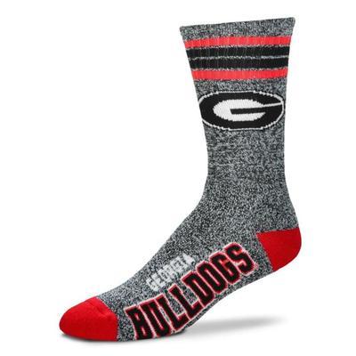 Georgia 4-Stripe Marbled Deuce Sock