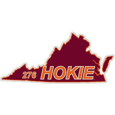 Virginia Tech Decal 276 Area Code 6