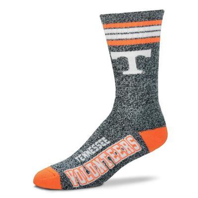 Tennessee 4-Stripe Marbled Deuce Sock