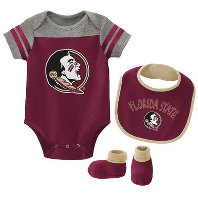 Florida State Gen2 Infant Tackle Creeper Bib and Bootie Set