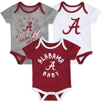 Alabama Gen2 Infant Champ Creeper 3 Pack Set