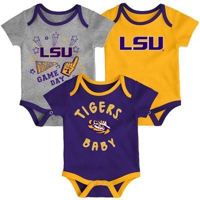 LSU Gen2 Infant Champ Creeper 3 Pack Set