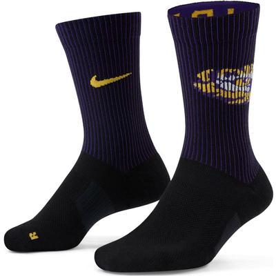 LSU Nike College Multiplier 2 pack Crew Socks