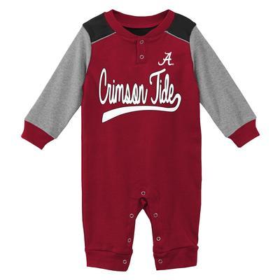 Alabama Gen2 New Born Scrimmage Long Sleeve Snap Onesie