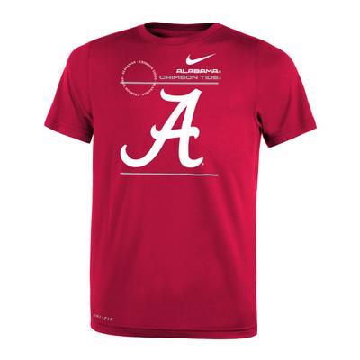Alabama Nike KIDS Legend Dri-Fit Tee