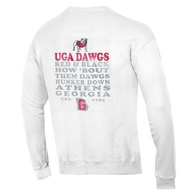Georgia Comfort Wash Retro Font Crew Sweatshirt