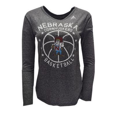 Nebraska Adidas Basketball Long Sleeve Crew