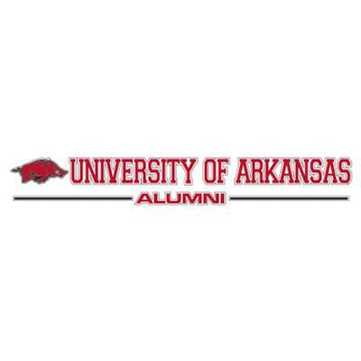 Arkansas Alumni Strip Decal