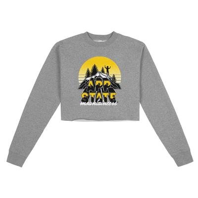 Appalachian State Uscape Oversize Crop Neon Sign Crew
