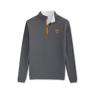 Tennessee Peter Millar Perth Stretch 1/4 Zip - Orange Zipper