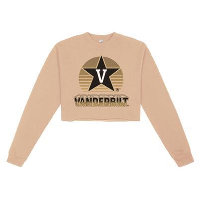 Vanderbilt Uscape Oversize Crop Neon Sign Crew