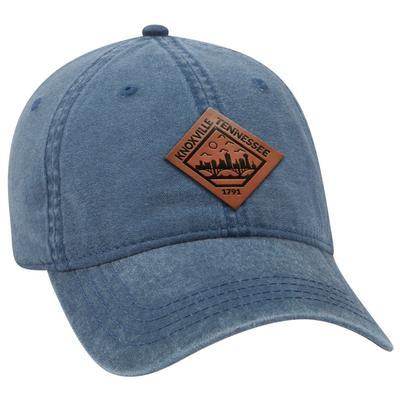 Uscape Knoxville Vintage Wash Adjustable Faux Leather Patch Hat