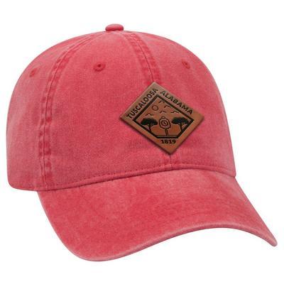 Uscape Tuscaloosa Vintage Wash Adjustable Faux Leather Patch Hat