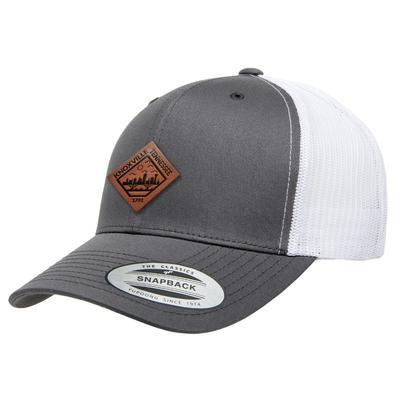 Uscape Knoxville Vintage Wash Faux Leather Patch StructuredTrucker Hat
