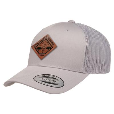Uscape Tuscaloosa Vintage Wash Faux Leather Patch Structured Trucker Hat