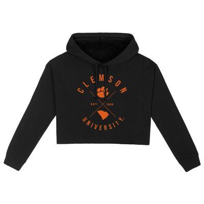 Clemson Uscape X Arch Crop Hoodie