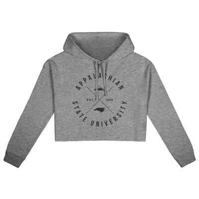 Appalachian State Uscape X Arch Crop Hoodie