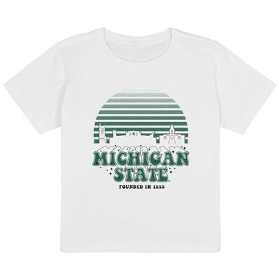 Michigan State Uscape Organic High Waisted Short Sleeve Tee