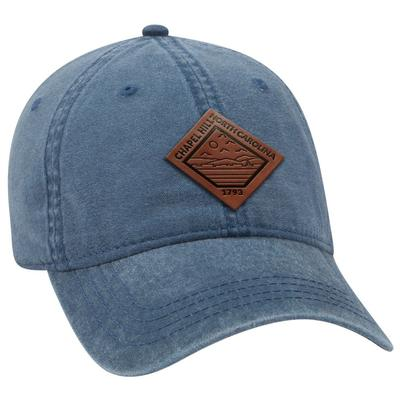 Uscape Chapel Hill Vintage Wash Adjustable Faux Leather Patch Hat