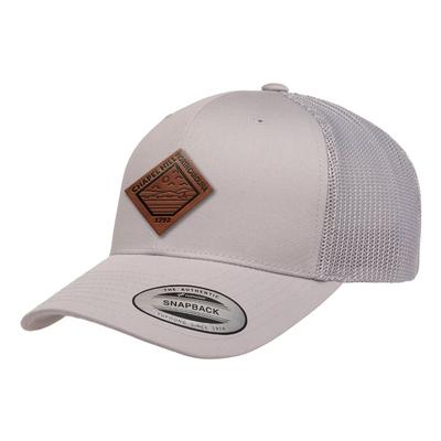 Uscape Chapel Hill Vintage Wash Faux Leather Patch Structured Trucker Hat