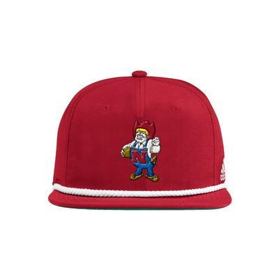 Nebraska Adidas Vault Rope Flatbrim Hat