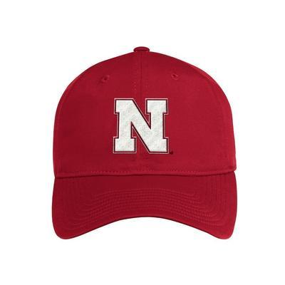 Nebraska Adidas Coach Slouch Adjustable Hat