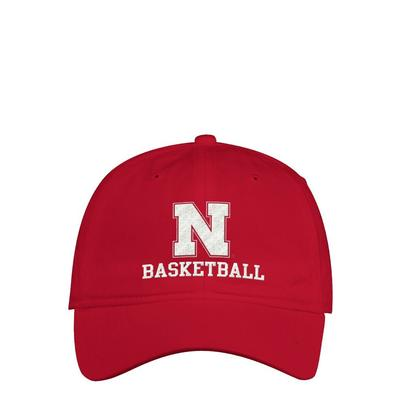 Nebraska Adidas Basketball Adjustable Hat