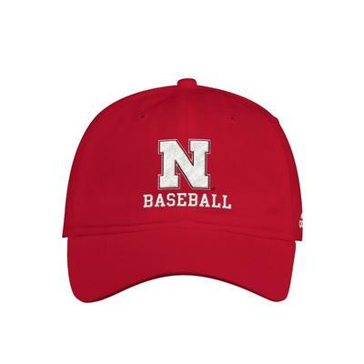 Nebraska Adidas Baseball Adjustable Hat