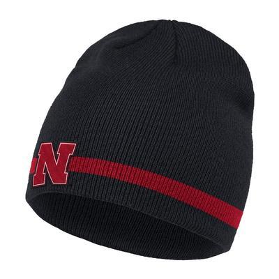 Nebraska Adidas Coach Striped Beanie