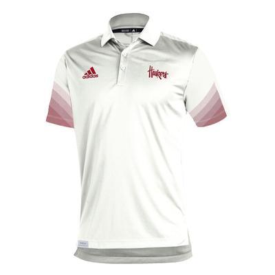 Nebraska Adidas Sideline 21 Primeblue Polo