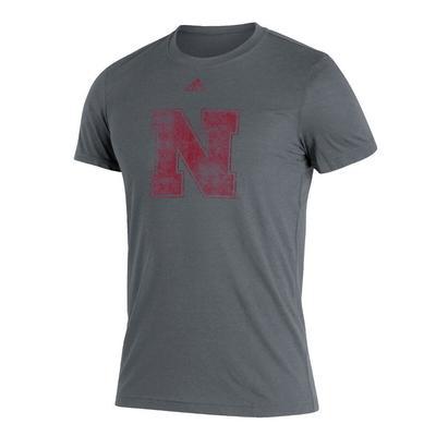 Nebraska Adidas N Logo Short Sleeve Tee