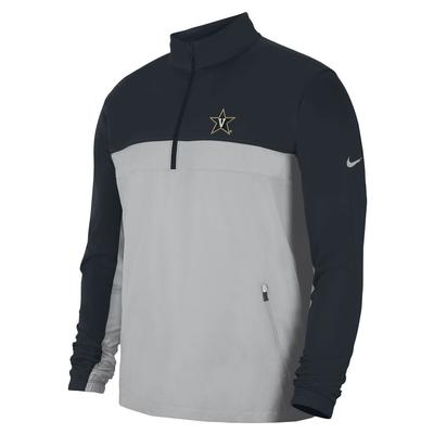 Vanderbilt Nike Victory Half Zip Shield Pullover
